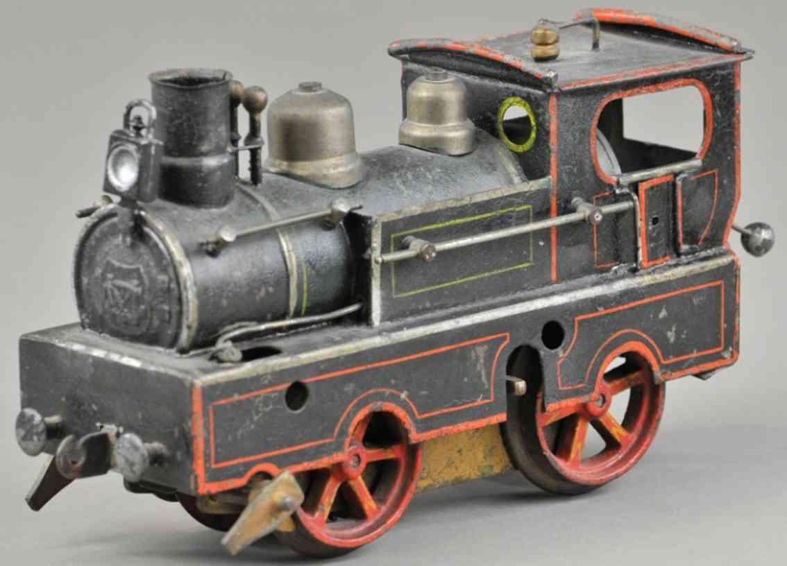 marklin maerklin railway toy engine steam clockwork locomotive black gauge I
