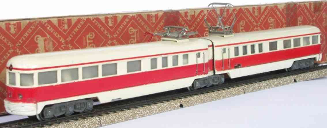 maerklin dt 800-2 spielzeug eisenbahn doppeltriebwagen rot elfenbein spur h0