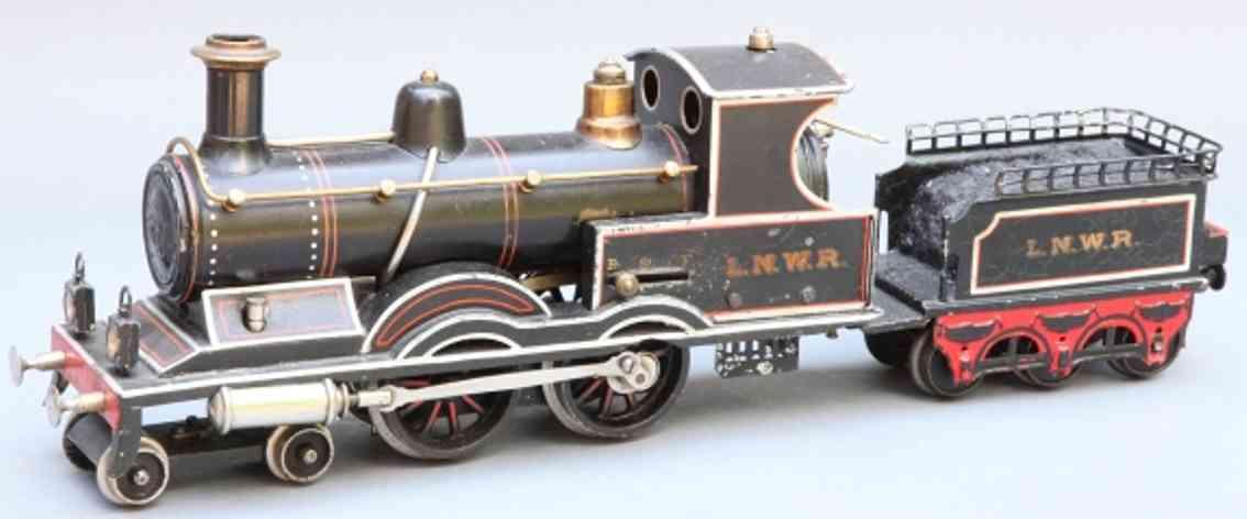 marklin maerklin e 4021 lnwr toy engine english dragging tender locomotive black gauge 1