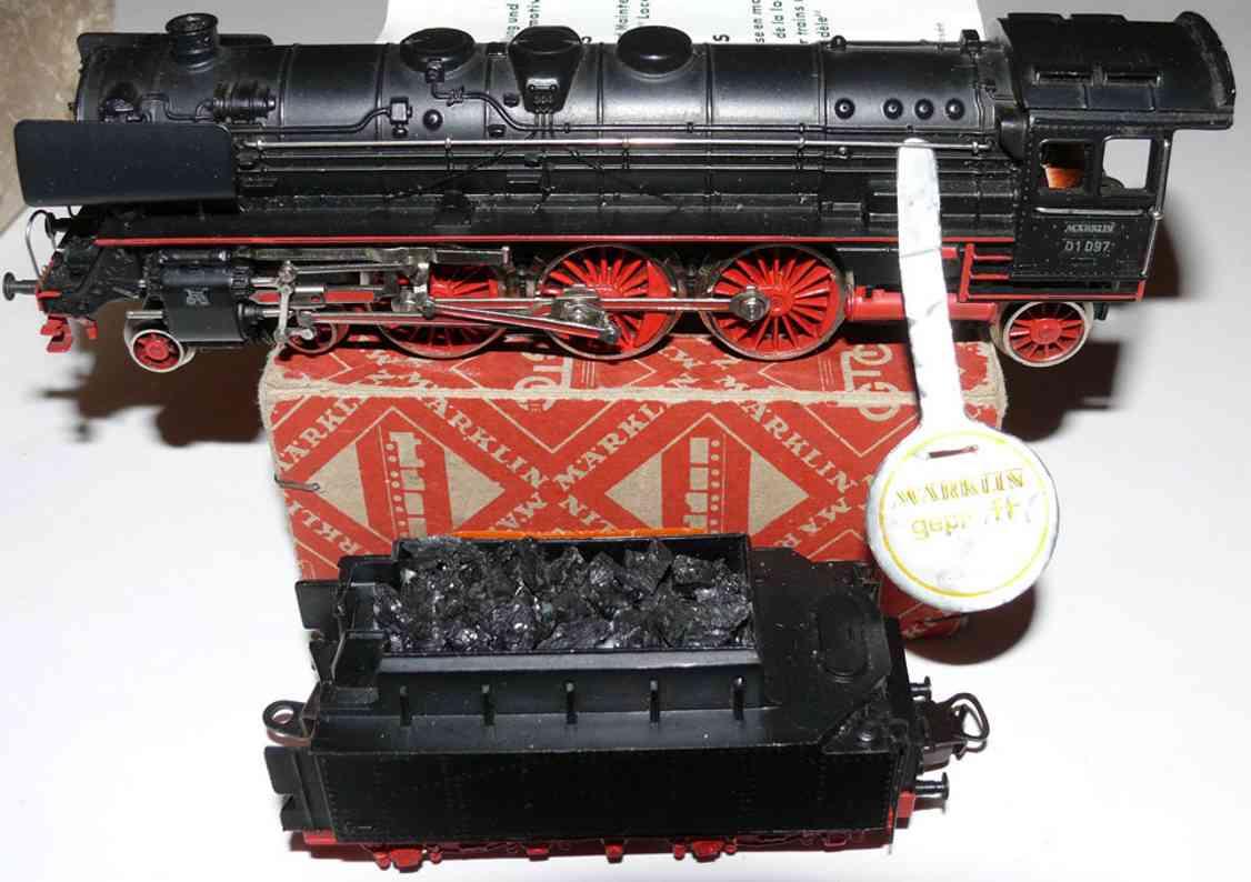 marklin maerklin f 800-3 railway toy engine express train steam locomotive tender black gauge h0