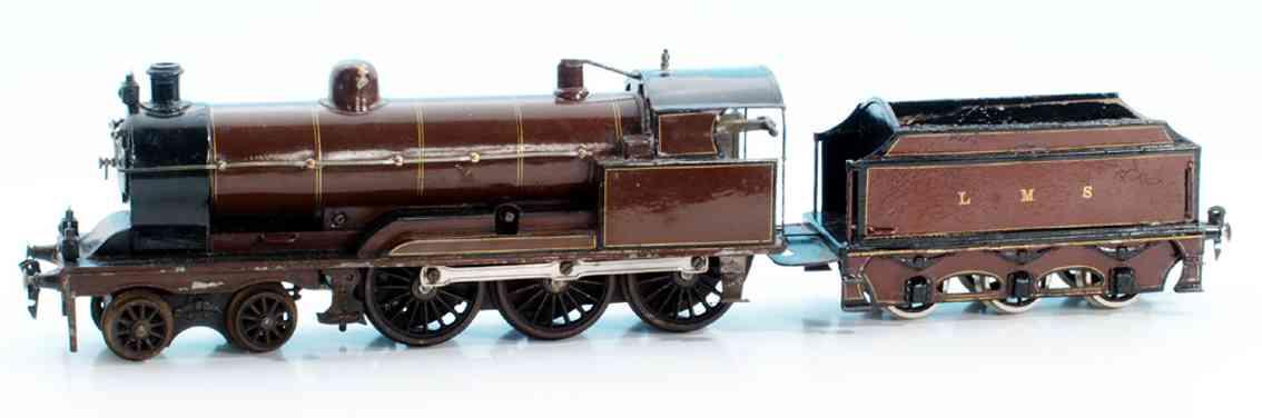 maerklin g 1021 lms spielzeug uhrwerk-dampflokomotive rotbraun spur 1