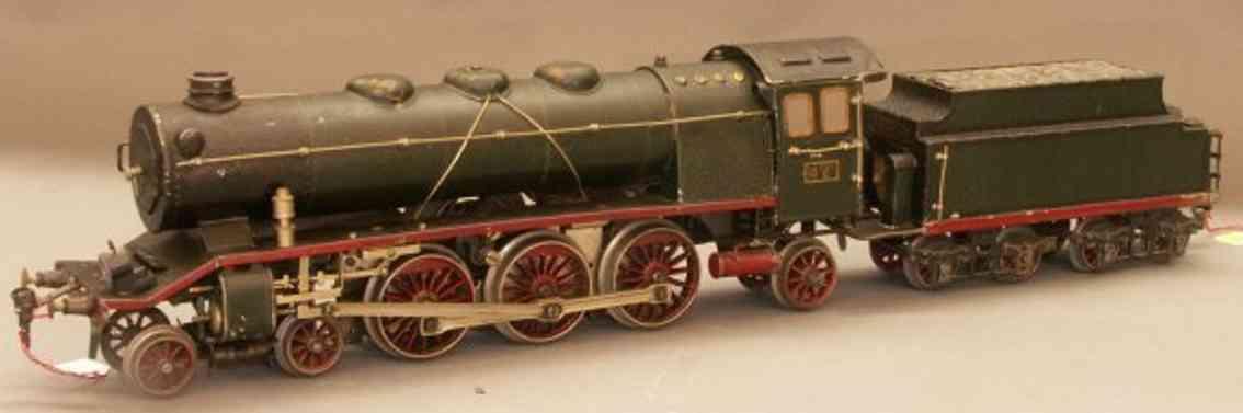 maerklin hr 64/13021 eisenbahn 20 volt schlepptenderlokomotive gruen schwarz spur 1