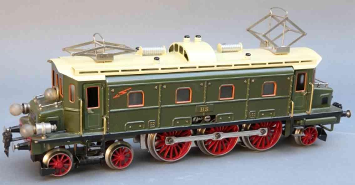 maerklin hs 66/13021 spielzeug eisenbahn 20 volt elektrolokmotive  gruen beige spur 1