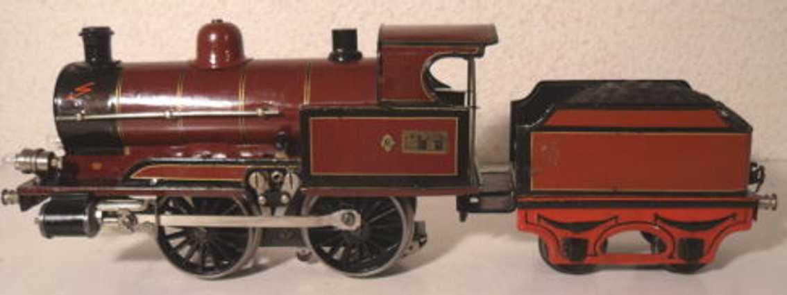 maerklin r 13031 lms eisenbahn englische dampflokomotive 20 volt tender rotbraun spur 1