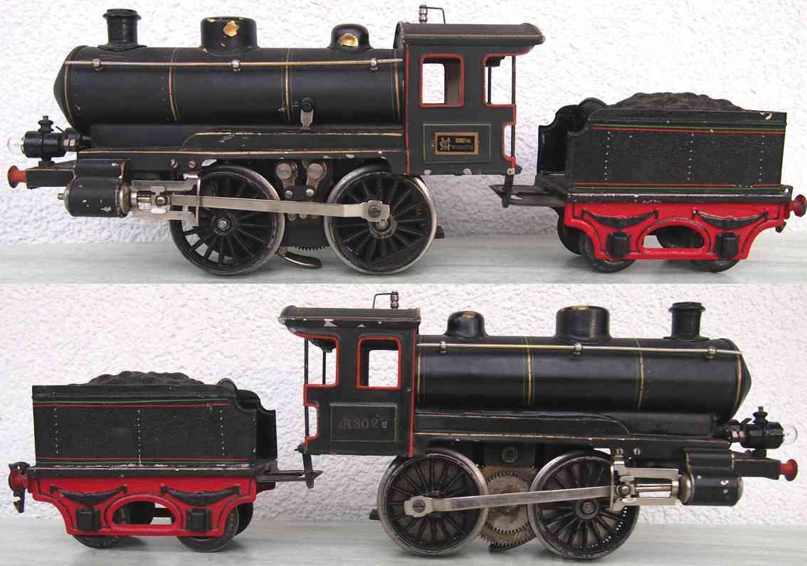 maerklin r 3021 eb eisenbahn startkstomm-dampflokomotive tender schwarz spur 1