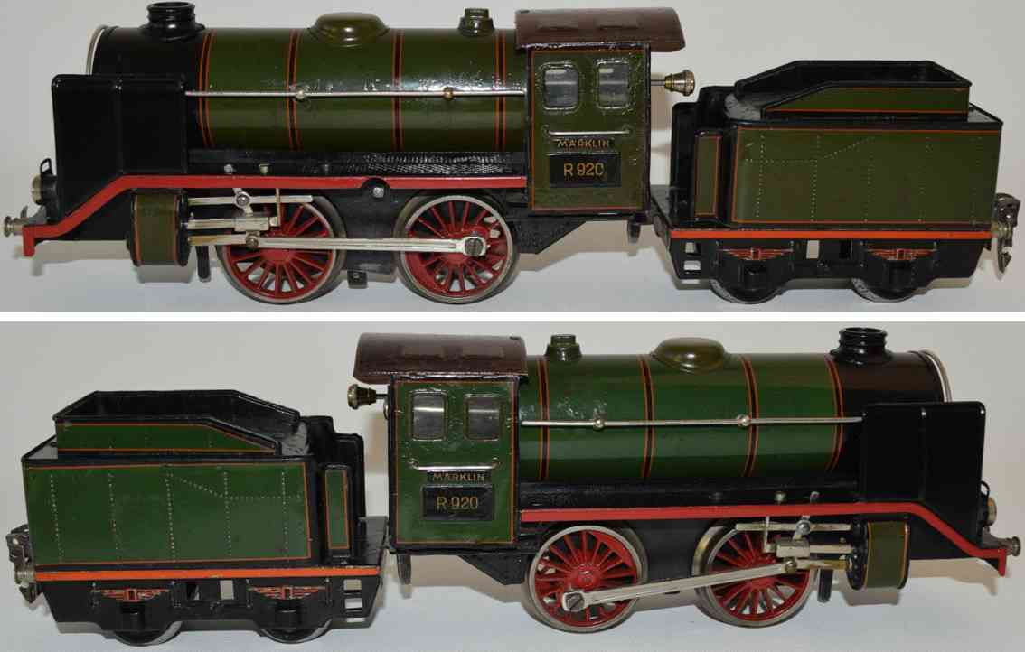 maerklin r 920 eisenbahn uhrwerk-dampflokomotive olivgruen spur 0