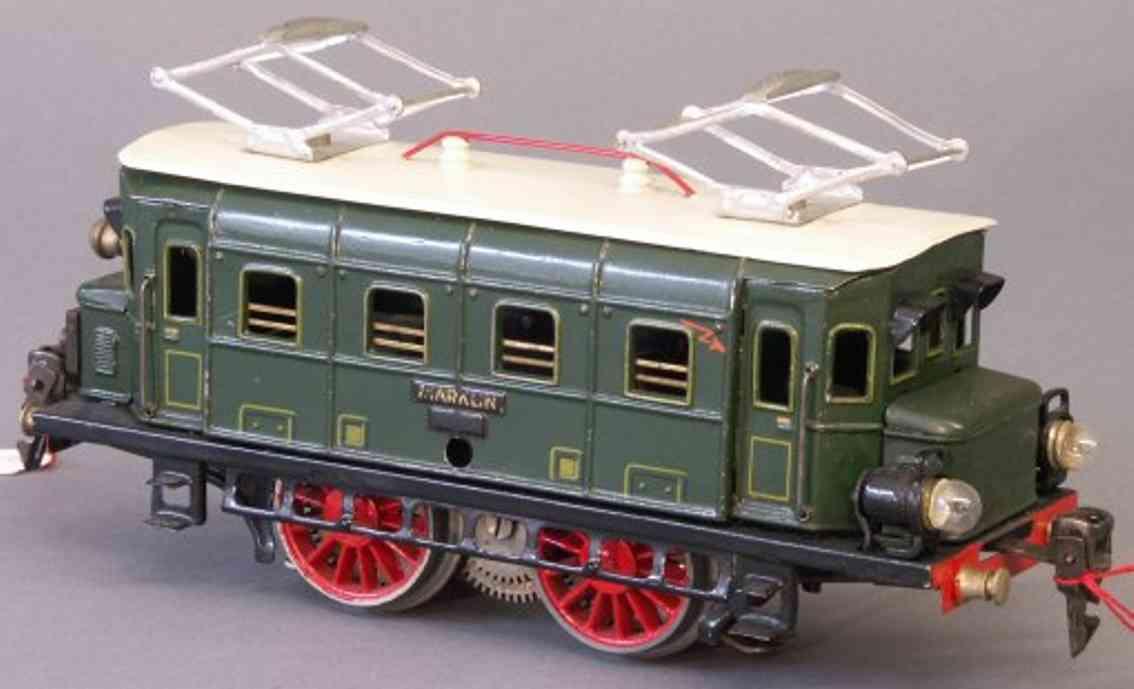 maerklin rs 12910 1932 spielzeug eisenbahn 20 volt elektrolokomotive in gruen spur 0