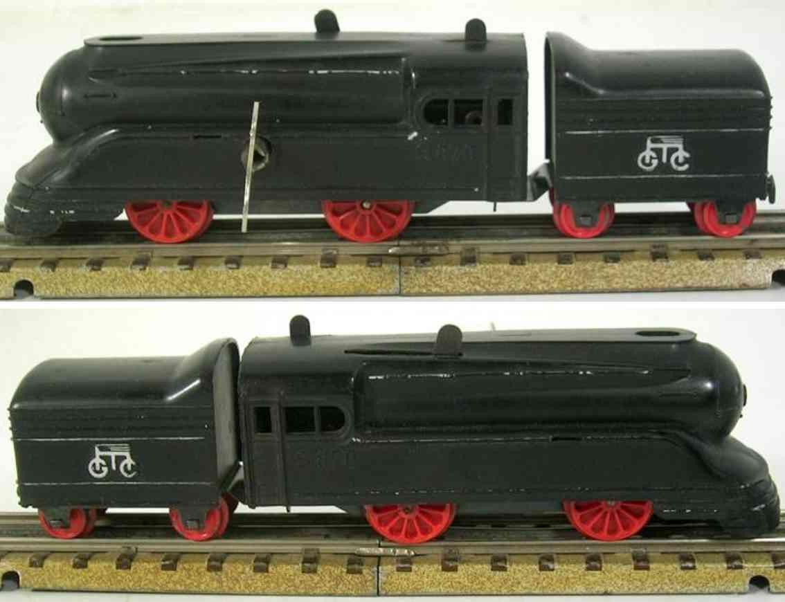 maerklin s 870-1 spielzeug stomlinienlokomotive schwarz tender spur h0