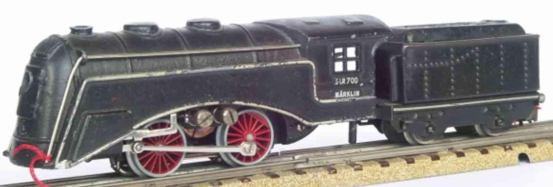 maerklin slr 700-3 spielzeug eisenbahn schlepptenderlokomotive schwarz spur h0