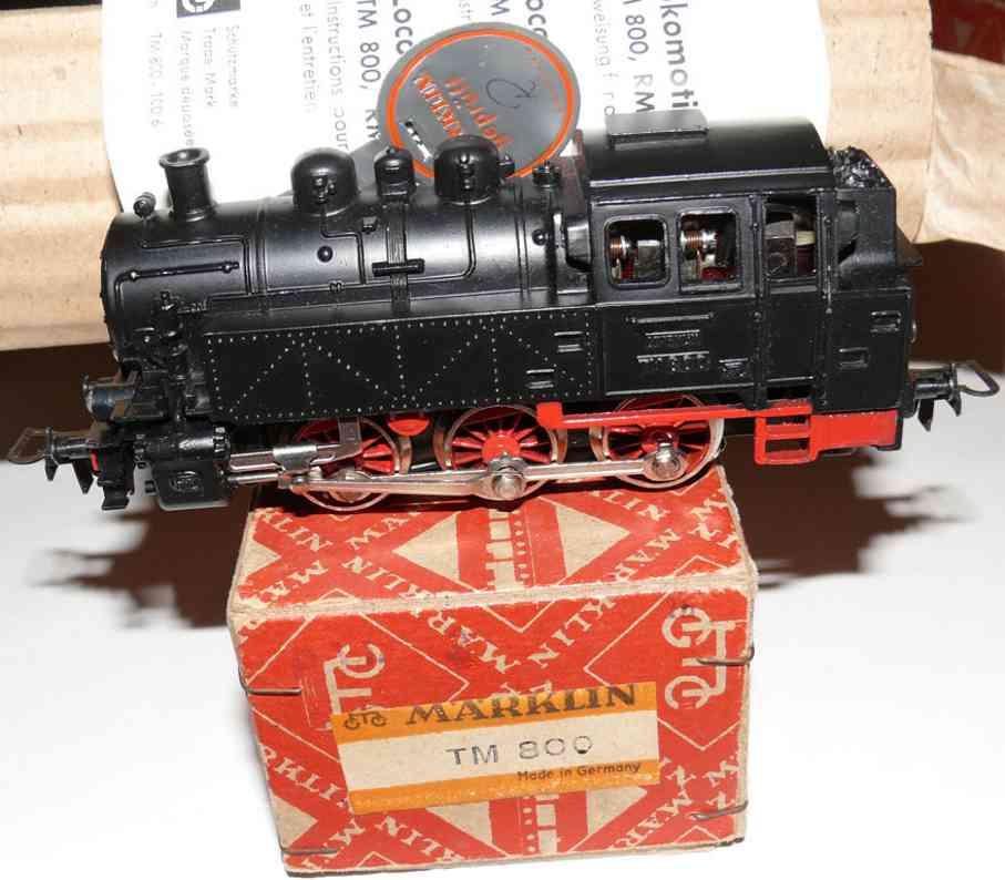 maerklin tm 800-2 spielzeug eisenbahn rangierlokomotive schwarz spur h0