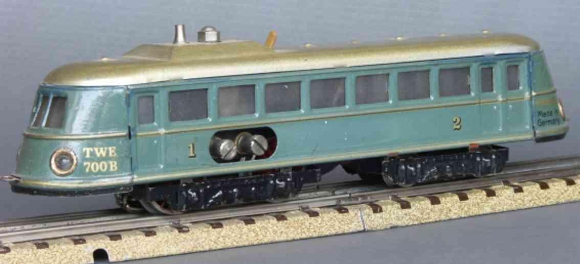 maerklin twe 700 b-2 spielzeug eisenbahn triebwagen gruenblau spur h0