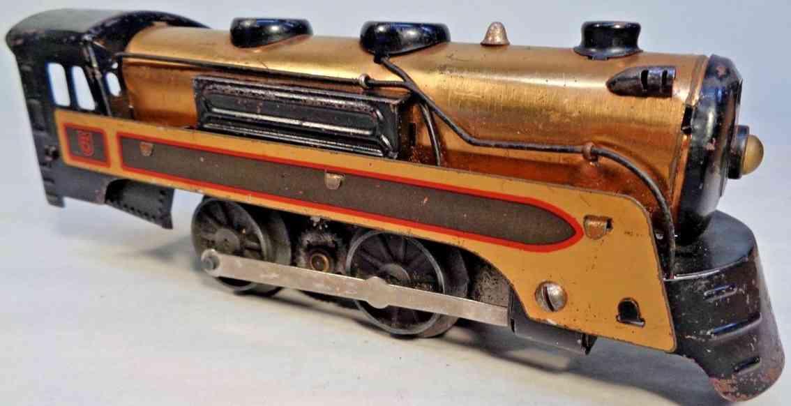marx louis 396 lokomotive candian pacific kupfer messing spur 0