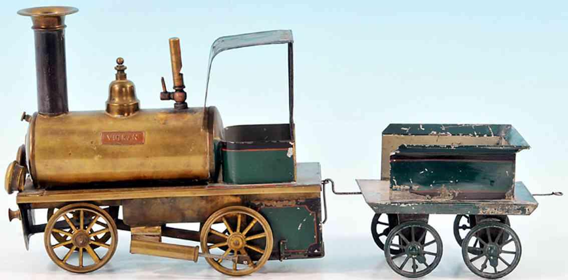 plank ernst spielzeug eisenbahn lokomotive spiritusdampflokomotive a1' mit 2-achsigem tender, grün und
