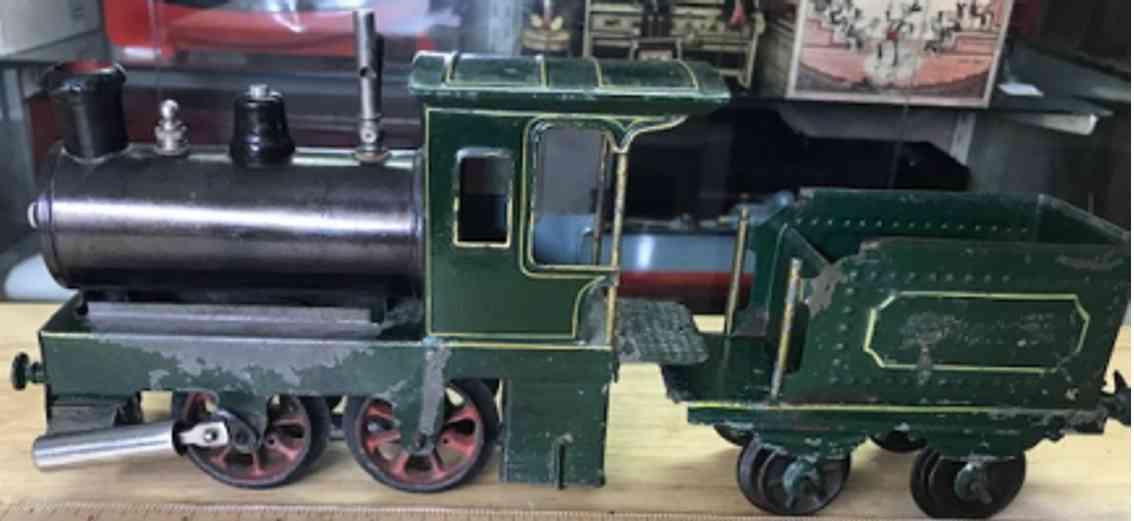 plank ernst railway toy engine spirit fired locomotive with tender