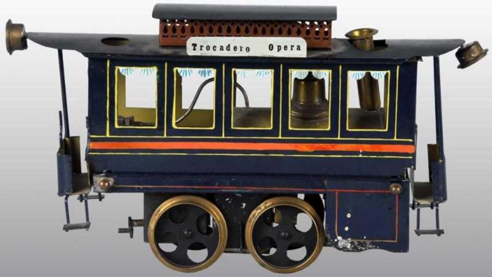 plank ernst spielzeug eisenbahn dampstrassenbahn trocadero opera