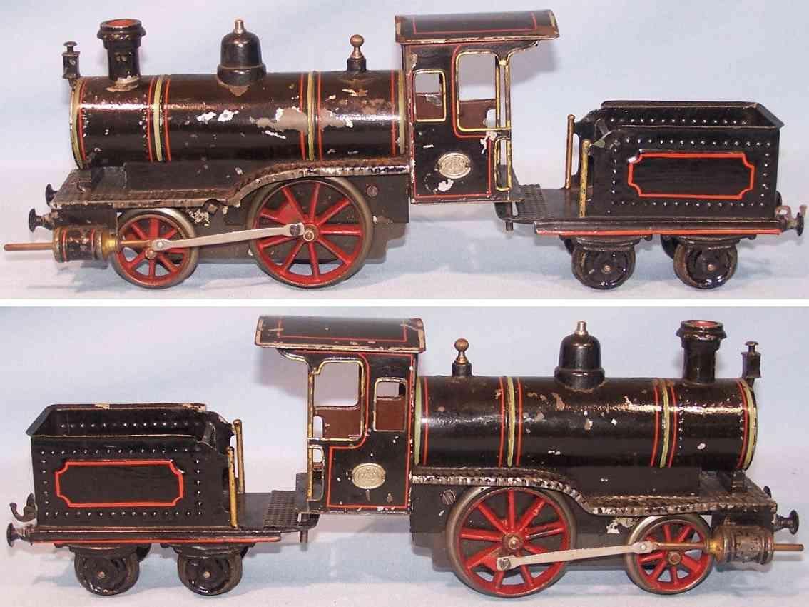 plank ernst spielzeug eisenbahn uhrwerk-dampflokomotive tender