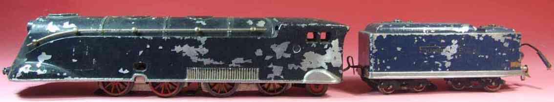 roussy louis spielzeug eisenbahn lokomotive lokmotive super rapide in blau mit speichenräder, die blautö