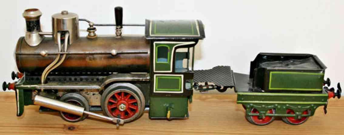 schoenner 116 R spielzeug eisenbahn spiritusdampflokomotive gruen und schwarz spur 0