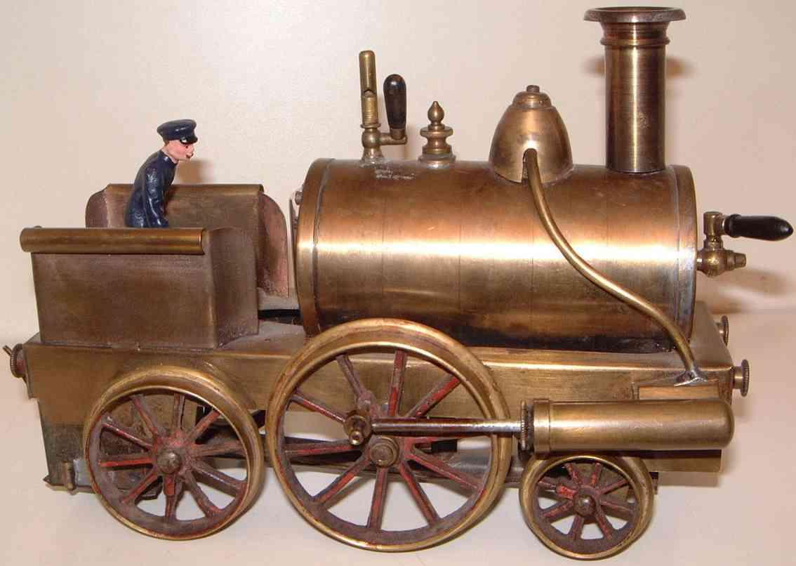 Schoenner Spiritus-Dampflokomotive
