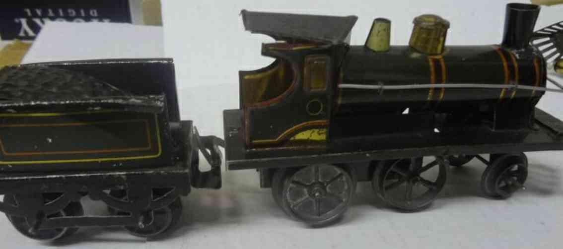 schuhmann,adolf toy engine clockwork-locomotive tender america market gauge 0