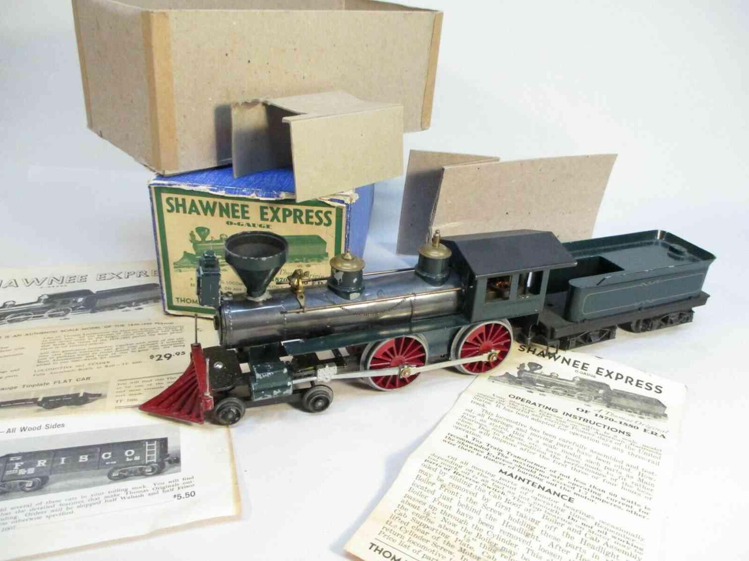 thomas industries railway toy engine shawnee express locomotive tender gauge 0