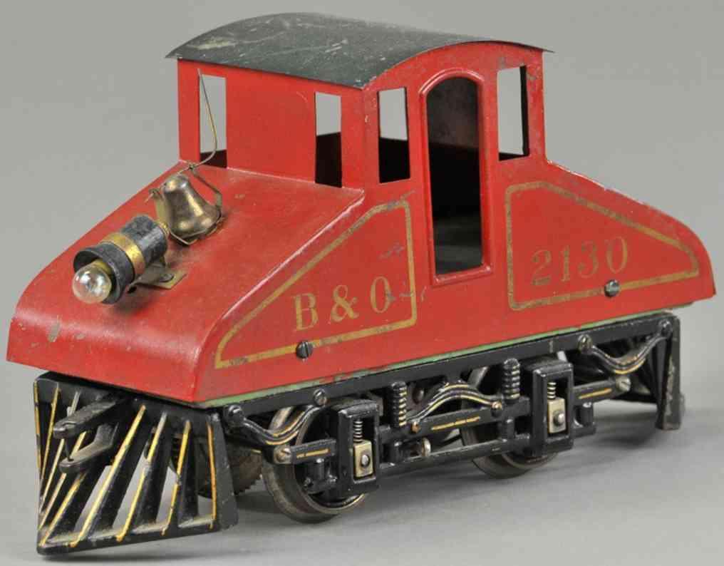 voltamp 2130 b&o eisenbahn grubenlokomotive rot spur 0