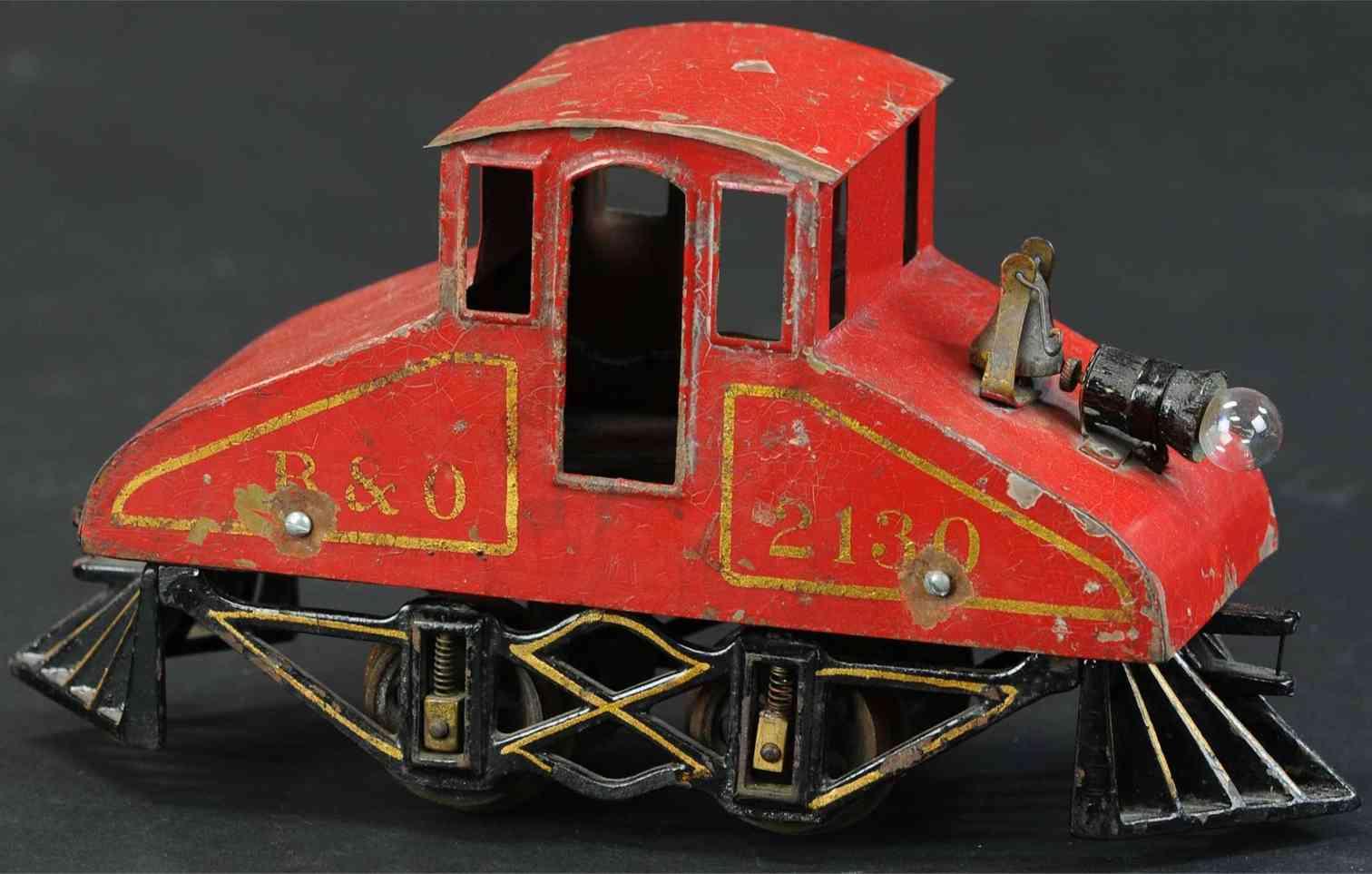 voltamp 2130 spielzeug grubenlokomotive rot shcwarz spur 0