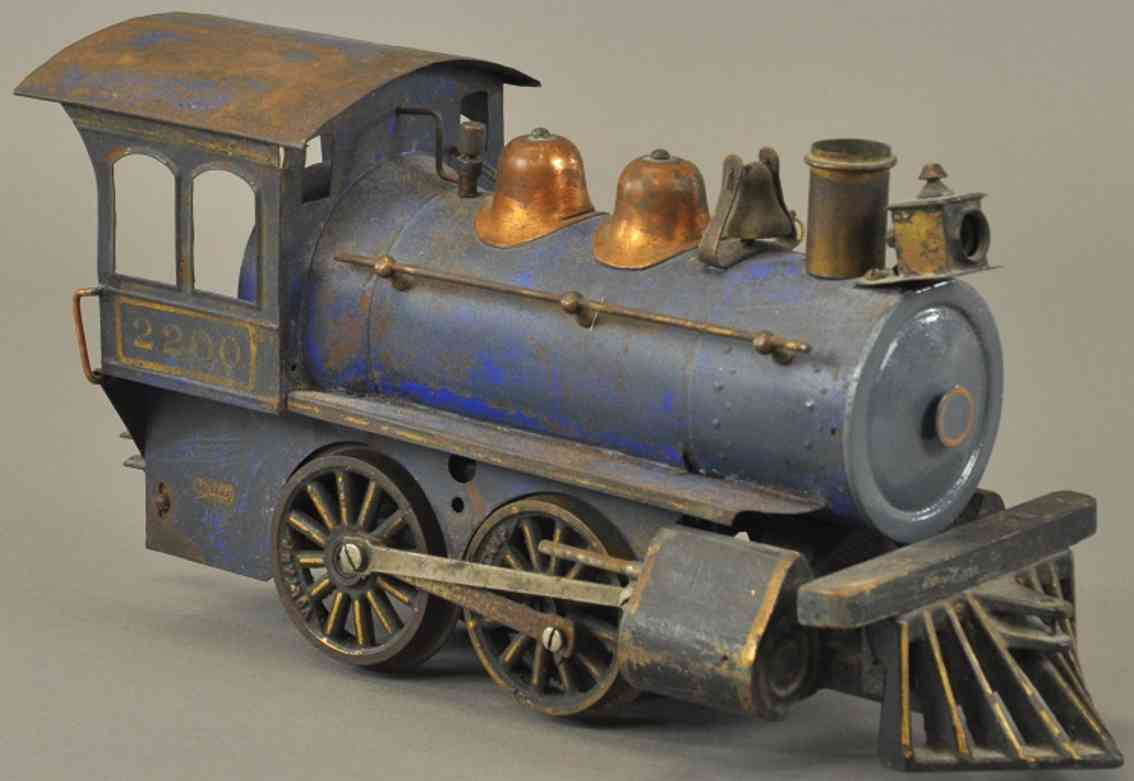 voltamp 2200 spielzeug eisenbahn lokomotive blau
