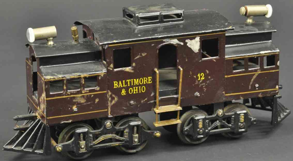 voltamp 2210 vorot-lokomotive braun schwarz spur 2 inches baltimore ohio