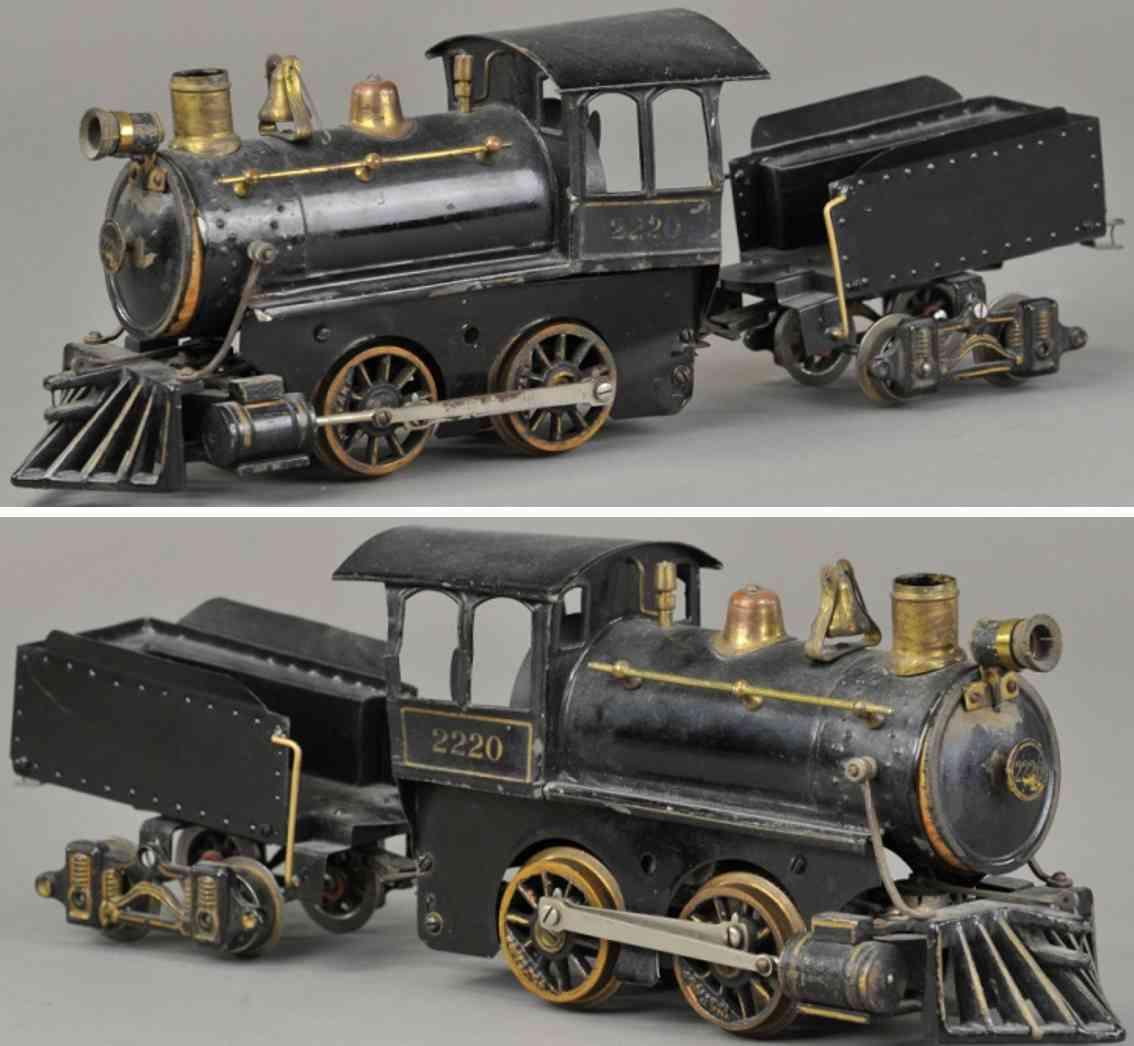 voltamp 2220 spielzeug eisenbahn lokomotive tender schwarz 2 inches