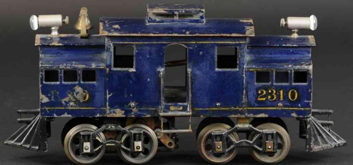 voltamp 2310 spielzeug eisenbahn elektrolokomotive blau spur 2 inches