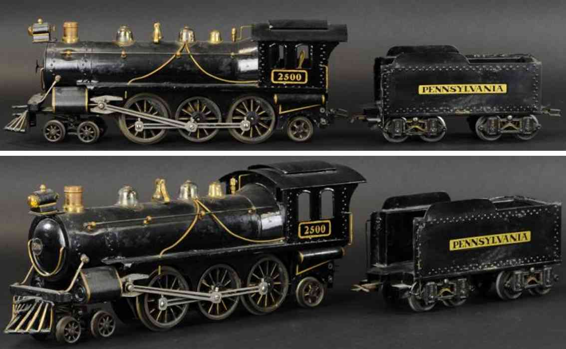 voltamp 2500 spielzeug eisenbahn lokomotive tender schwarz