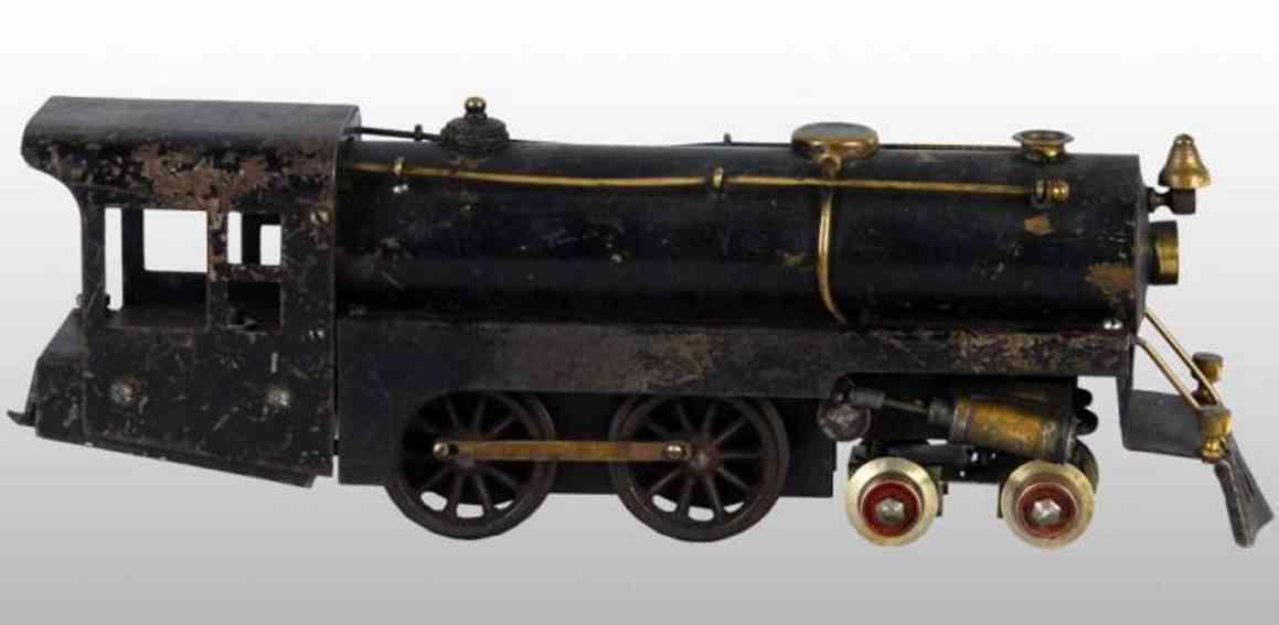 weeden 1 spielzeug eisenbahn lokomotive lokomotive mit messingkessel mit schwarzer emaille, druckven