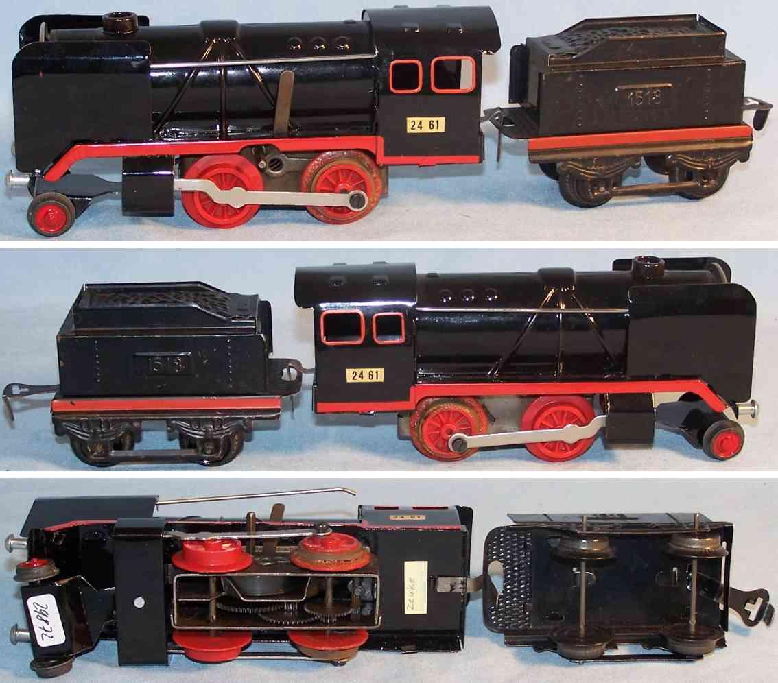 zeuke 2461 spielzeug eisenbahn dampflokomotive mit tender 1518