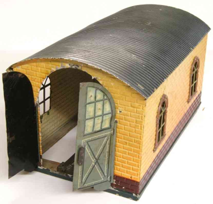 bing 6166/0 railway toy one-constant engine shed