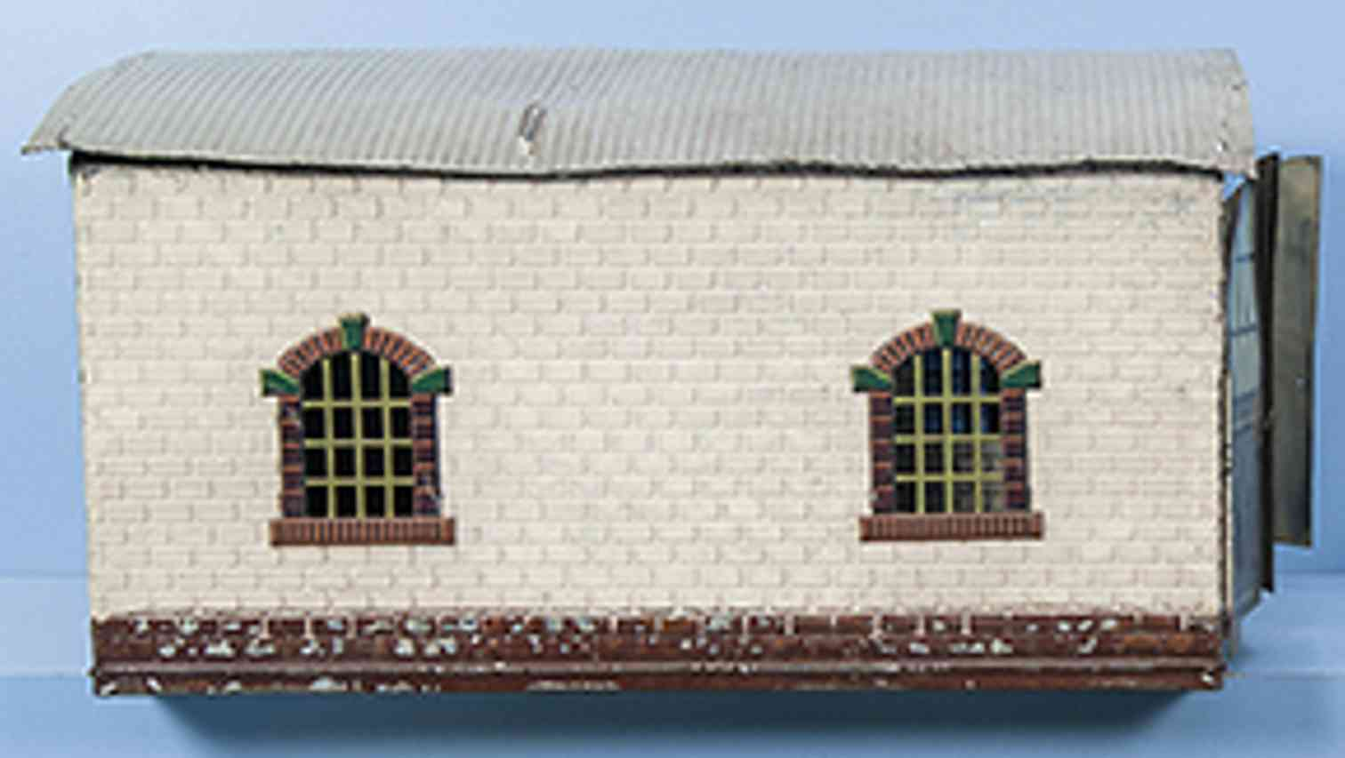 bing  6167/1 railway toy 2-place locomotive shed gauge 1