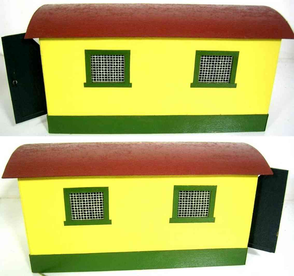 heidt klaus railway toy engine shed cardboard wood