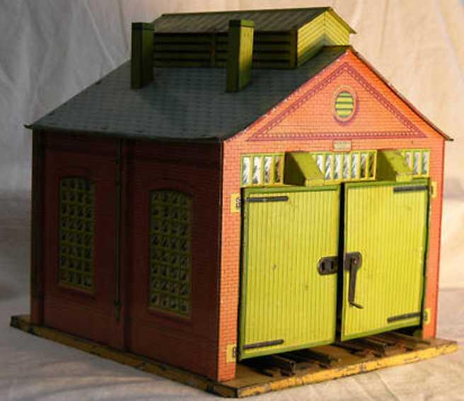 Hornby Lokschuppen zweiständig lithografiert mit 4 Toren