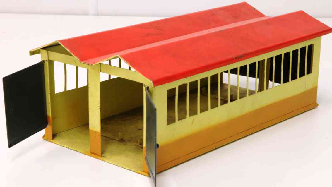 kibri 0/49/58 1939 railway toy 2-constant engine shed easy roof