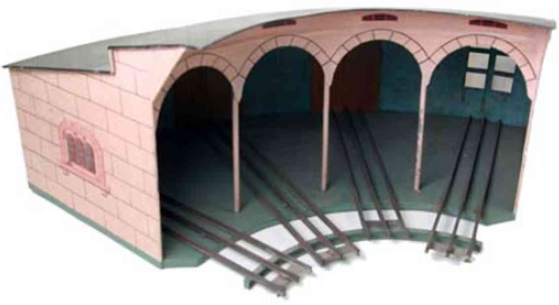 marklin maerklin 02114/II el railway toy roundhouse four locomotives gauge 2