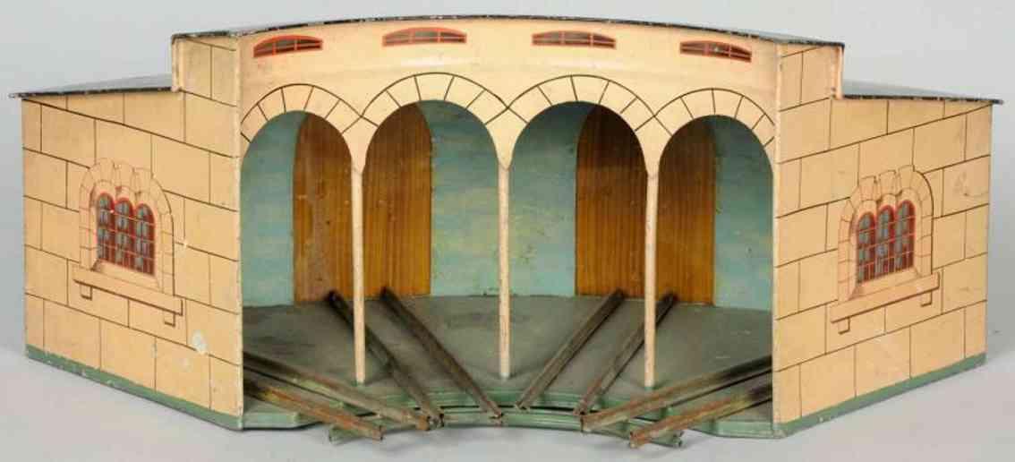 marklin maerklin ce 2113/0 railway toy round engine house for 4 locomotives