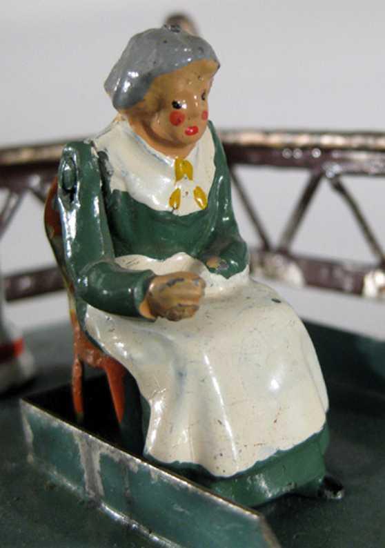 Britains Ltd. Toy Sitzende Bäuerin Gussfigur