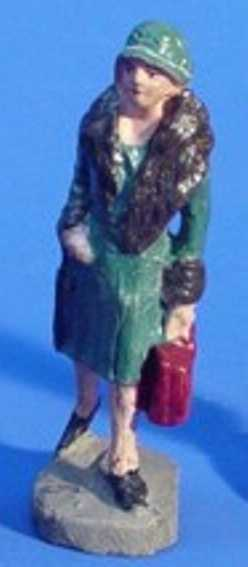 hausser elastolin 6623 railway toy figure woman