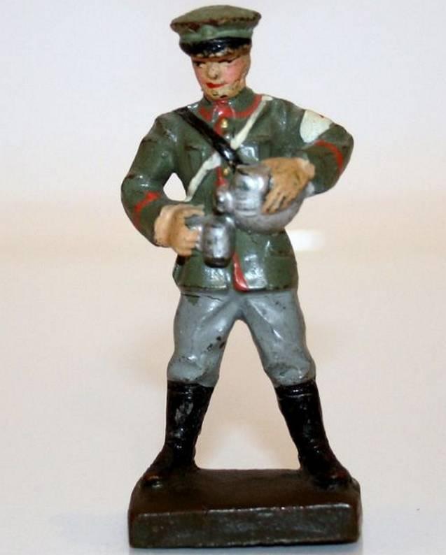 lineol 10/185 massefiguren sanitäter stehend becher einschenkend. figur ist an der unte