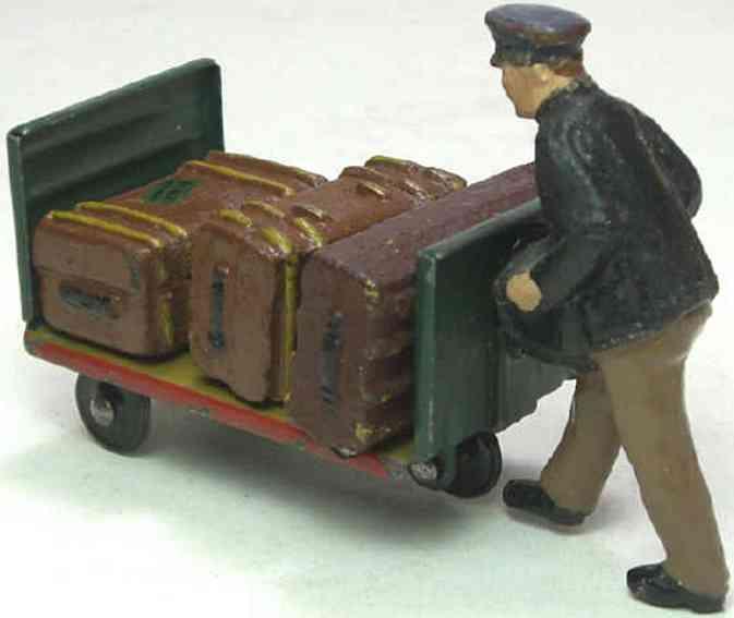 Lineol 187/8 Dienstmann mit Karre