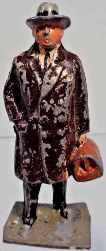 lionel 554 spielzeug mann eisenbahnfigur aus druckguss brauener mantel  j hill co