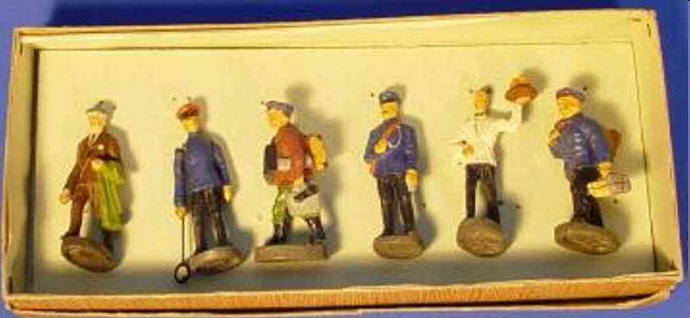 maerklin 2728 g spielzeug eisenbahn figur  6 massefiguren von hausser