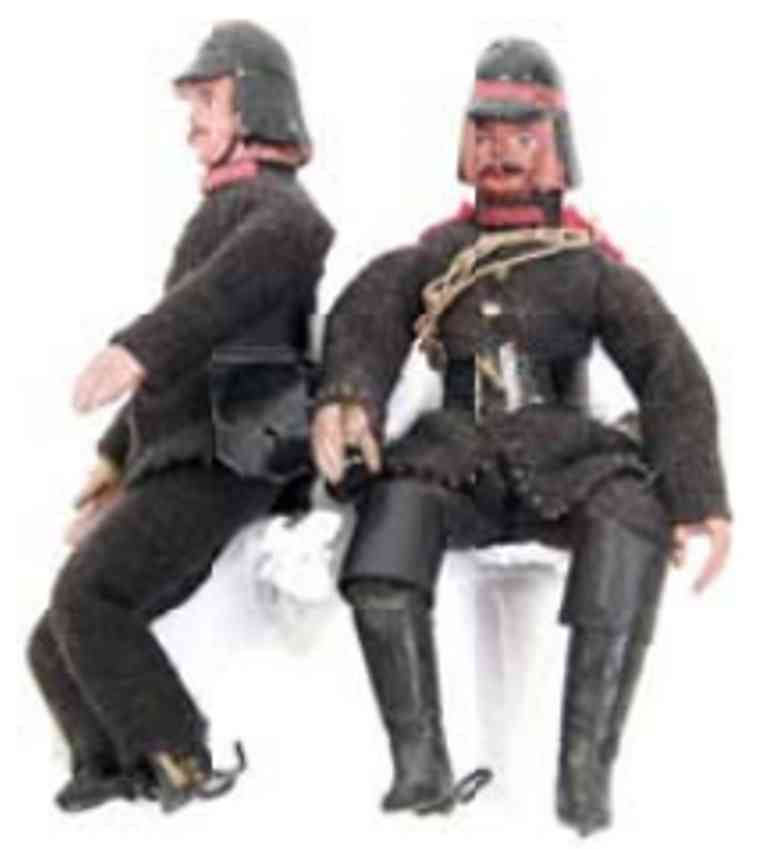 marklin maerklin mass figure 2 firefighters in uniforms with helmet