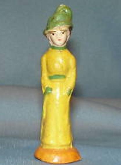 Märklin Frau mit gelbem Kleid und Hut
