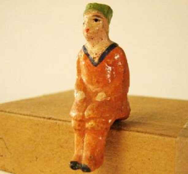 maerklin spielzeug eisenbahn figur herr mit grüner mütze als steckfigur